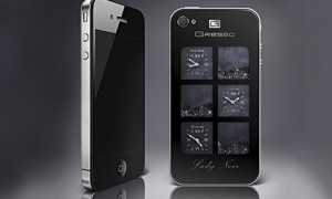 Gresso iPhone 4 ArtPhone Lady Noir Black Crystals