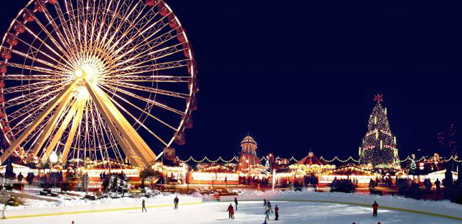 Парк Winter Wonderland в Лондоне