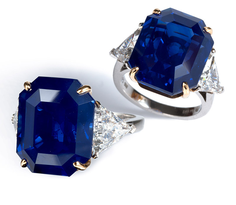 Bayco Crown of Kashmir sapphire and diamond ring